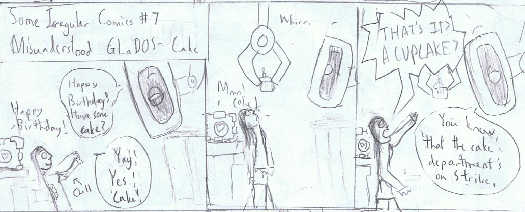 Misunderstood GLaDOS- Cake