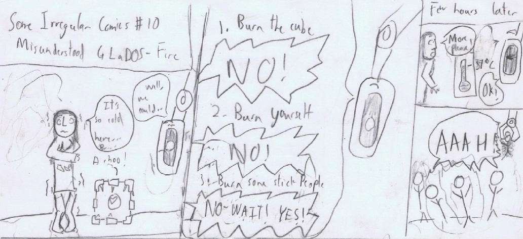 Misunderstood GLaDOS- Fire